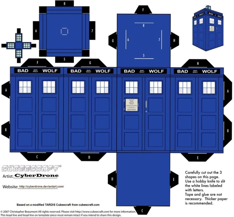 Cubee___Bad_Wolf_TARDIS_by_CyberDrone