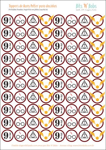 Toppers para docinhos - símbolos da saga